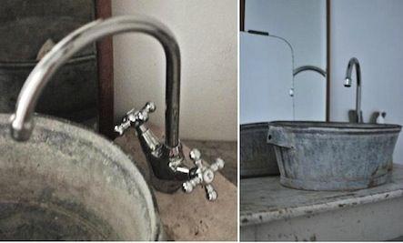 Turn a galvanized tub into a sink
