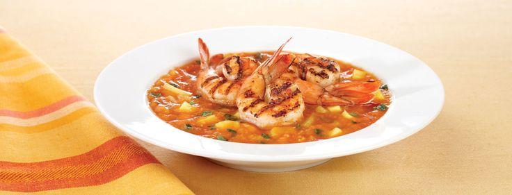 grilled shrimp with honeydew gazpacho gazpacho gazpacho gazpacho fiery ...