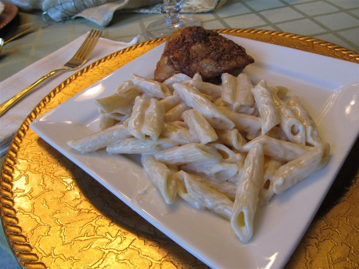 Garlic Cream Sauce for Pasta. I just made this for dinner. I used 2% ...