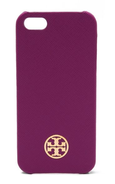 Pantone Radiant Orchid: Tory Burch Robinson Leather Hardshell iPhone 5/5S Case, $65.