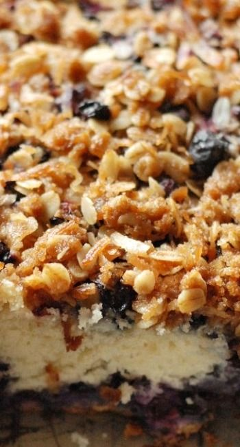 Blueberry Coffee Cake with Coconut Streusel | Recipe