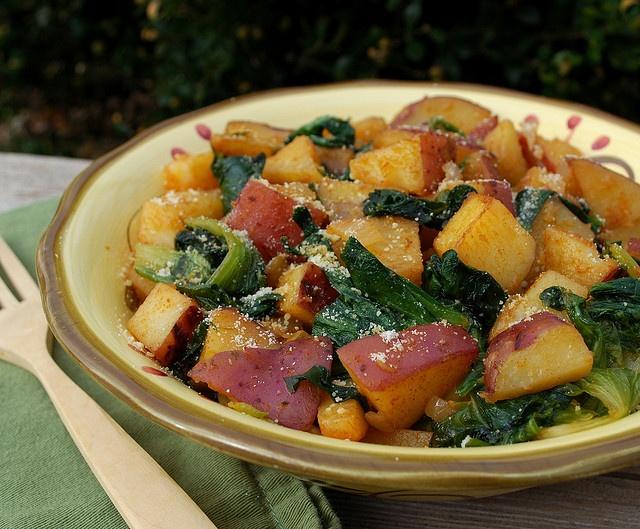 dinner tonight! paprika potatoes & escarole. beautiful new potatoes ...