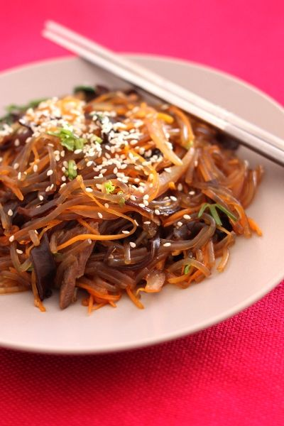 Japchae (Korean Stir-Fried Sweet Potato Noodles) Recipes — Dishmaps