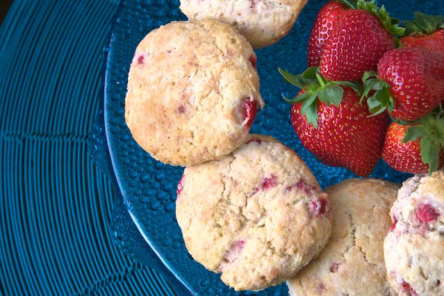 Strawberries and Cream Biscuits recipe pictures