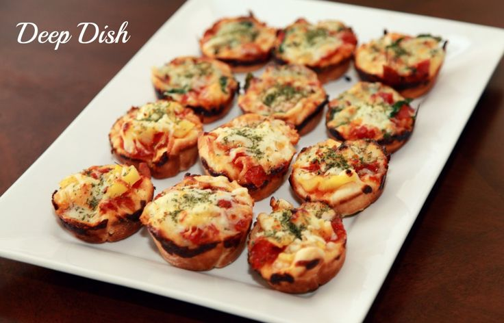 mini deep dish pizzas | Food for Thought | Pinterest