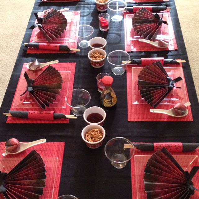 Asian themed party pat 39 s dishes pottery and table - Chinese dinner party ideas ...