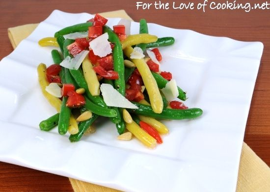 Green Bean,Yellow Bean, and Tomato Salad with White Balsamic ...