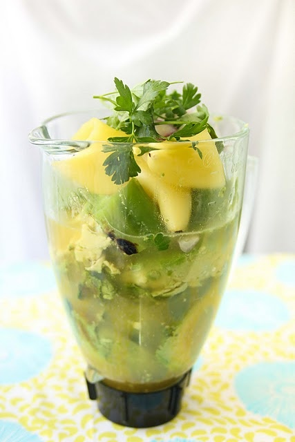 Chilled avocado soup.