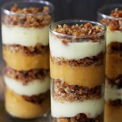 simple Pumpkin Praline Trifle made of pumpkin and vanilla pudding ...