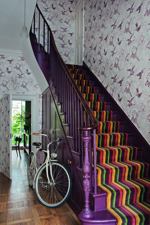 Purple Staircase Colorful Carpet Cake Place Pinterest