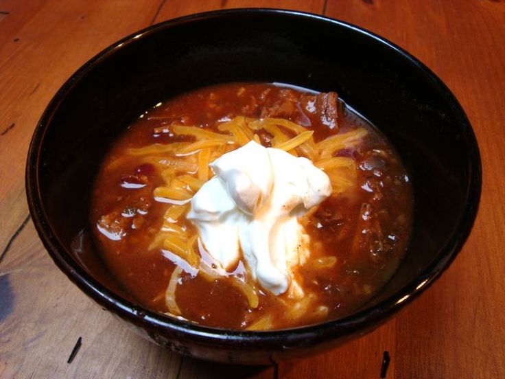 Beef chili with ancho, red beans, and chocolate