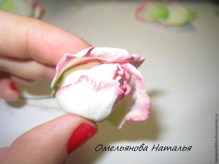 Роза из фоамирана мастер класс с выкройками