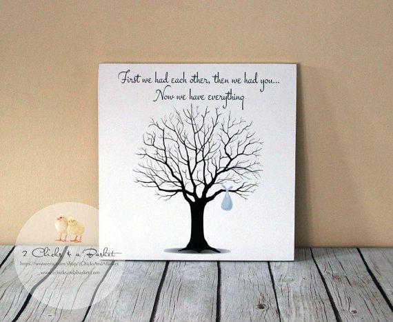 Baby shower fingerprint tree sign guest book by 2chicksandabasket 25
