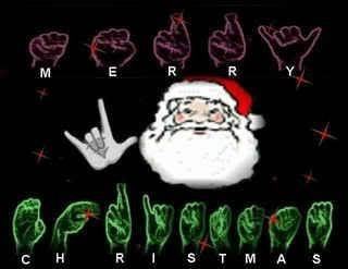 "Sign Language ""Merry Christmas"""