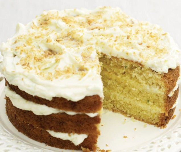Coconut and Lime Cake Shredded coconut, fresh lime juice and zest lend ...