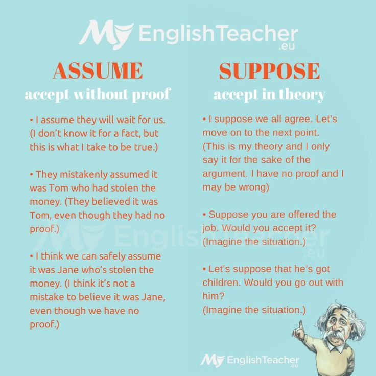 What Is The Difference In Meaning Between Assume & Suppose