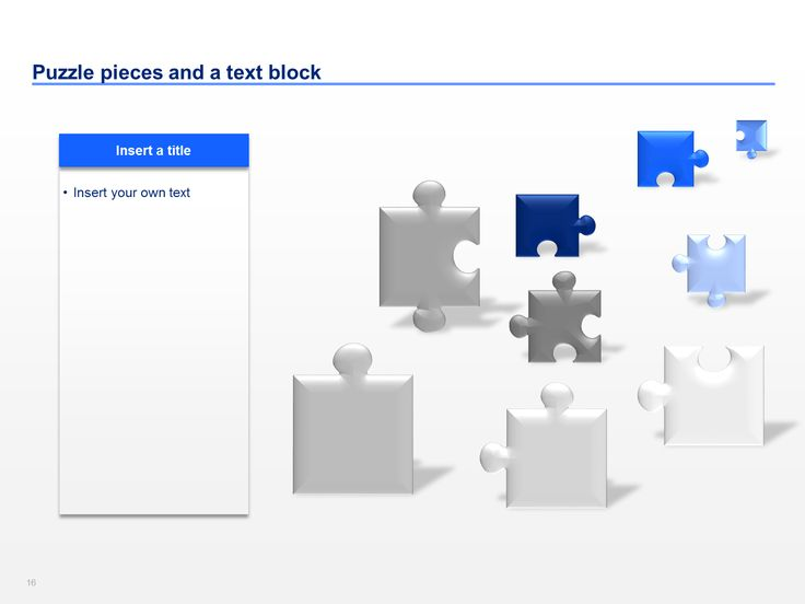 Free Powerpoint Templates Puzzle Pieces