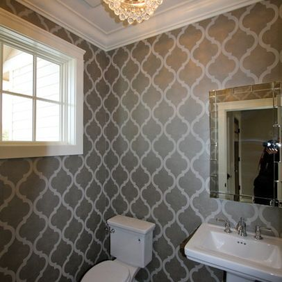 Powder Room Wallpaper Powder Room Pinterest