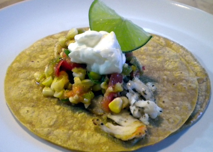 Grilled Fish Tacos with spicy corn salsa | Olive Oil Recipes | Pinter ...