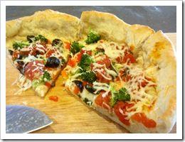 Deep Dish Veggie Pizza | Recipes | Vegetarian Dinners | Pinterest