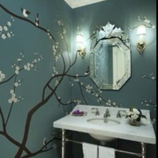 Cute For A Girl 39 S Bathroom Wall Treatments Pinterest