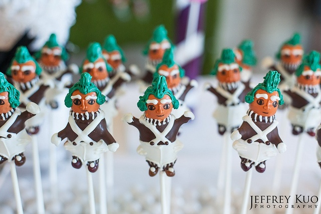 Oompa Loompa Cake Pops by Sweet Lauren Cakes, via Flickr