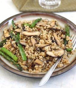 fried rice with shiitake mushroom and ginger recipe