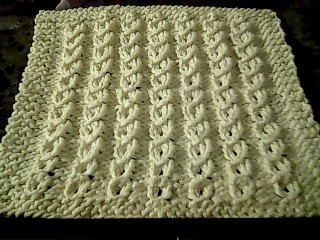 yarn over cable cloth