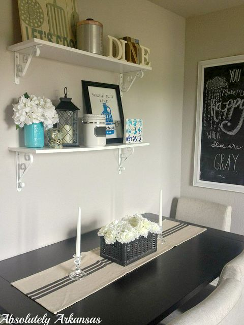 small dining room shelves above table home pinterest