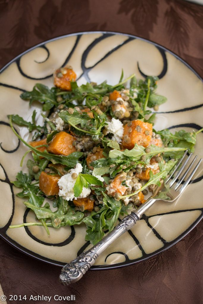 cheese salad spicy squash salad with lentils and goat cheese spicy ...