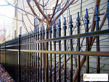 A classic steel fence style for the home.