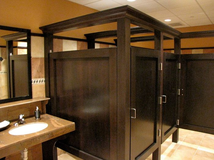 Bathroom stall casework bh colors and materials pinterest for Restaurant restroom design ideas