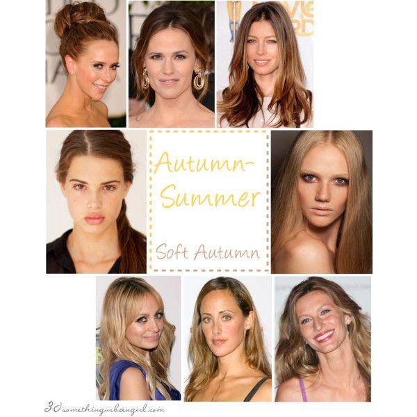Autumn-Summer seasonal coloring (Soft Autumn) celebrities