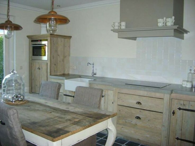 Houten Keuken Met Betonnen Blad : Houten keuken met betonnen blad. Inspiration for @Home [kitchen