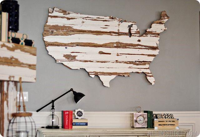 decoração de viagem quadro mapa madeira