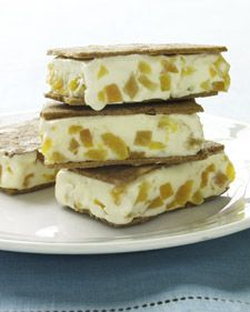"""... ginger cookies to make these ice cream sandwiches from """"Martha Stewart"""