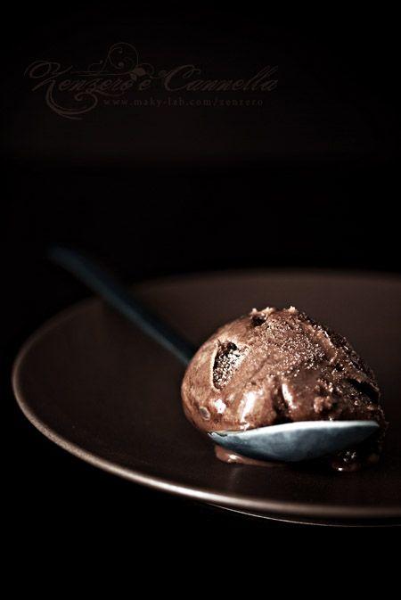 Gelato al cioccolato domenicano e rum.
