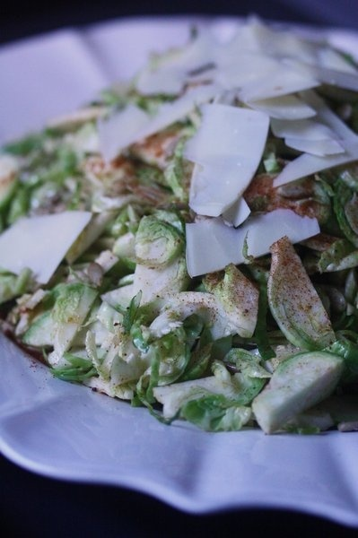 Shaved Brussels Sprout Salad with Manchego and Pimenton Vinaigrette ...