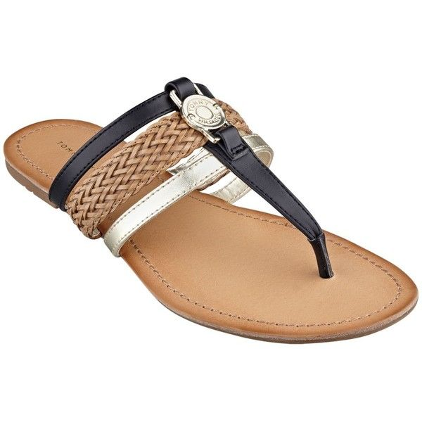 New Tommy Hilfiger Womens Lorine Flat Thong Sandals In Blue King Blue