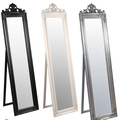 French tall standing mirror our interiors pinterest for Long standing mirror
