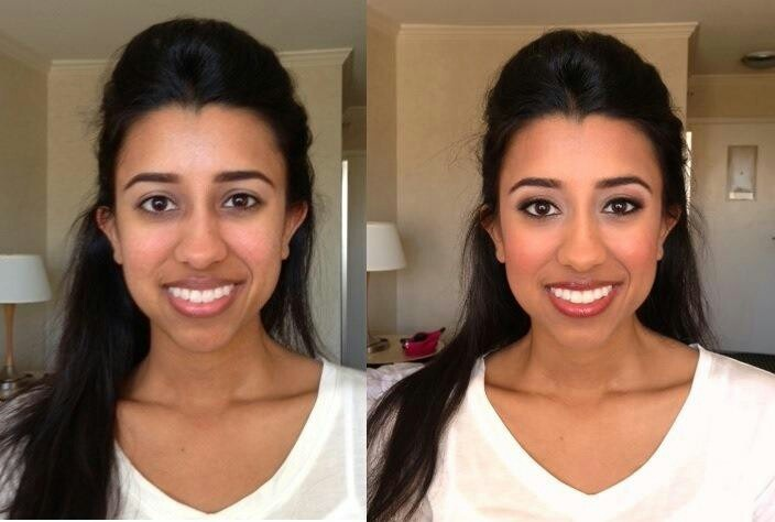 Bridal Makeup Pictures Before And After : Before and after Indian wedding makeup Blush - Weddings ...