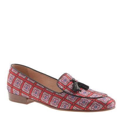 biella printed tassel loafers loafers amp oxfords women s shoes j crew