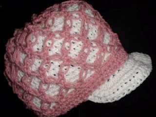 Crochet Knot Stitch Instructions : Crochet Geek - Free Instructions and Patterns: Knot Stitch Crochet Hat ...