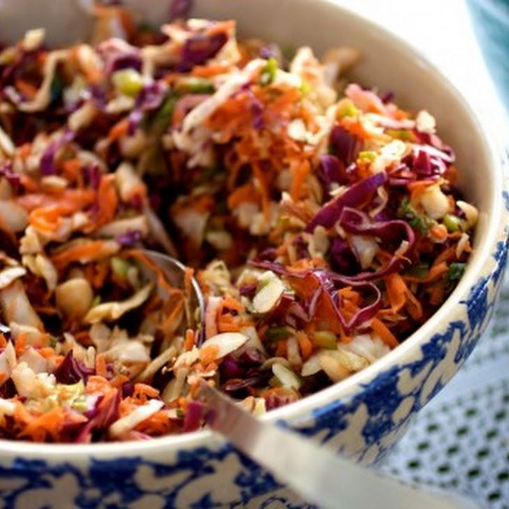 Asian Inspired Coleslaw Recipe - alternative to mayo based dressing