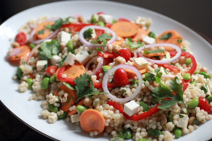 Israeli Couscous Salad Side   Recipes to Try: Salads   Pinterest