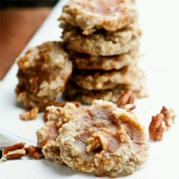 Glazed Maple-Pecan Cookies Recipe — Dishmaps