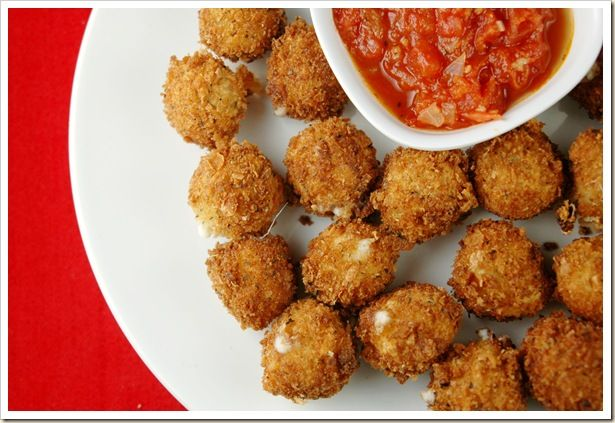 Fried Mozzarella Balls | Yuummmm | Pinterest