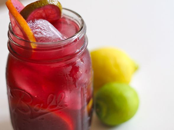Traditional Spanish Sangria with Fresh Squeezed Orange Juice & Rum