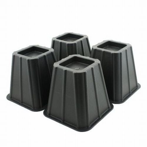 4 Bed Risers Add Height Heavy Duty Furniture Lift