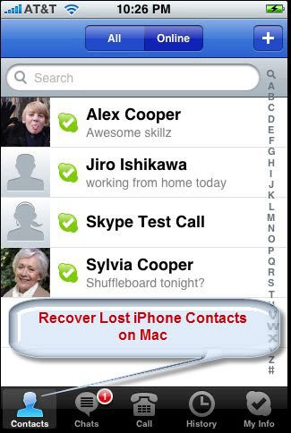 Recover Lost iPhone Contacts on Mac
